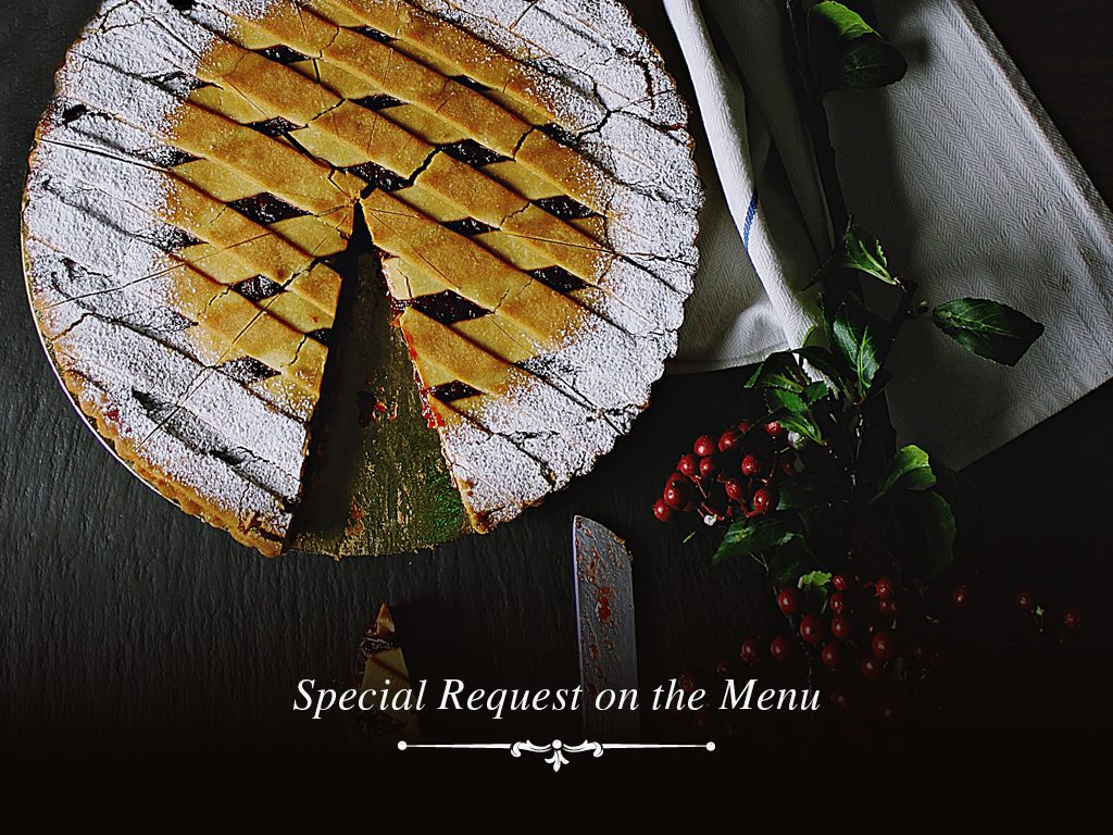 Special request on the menu