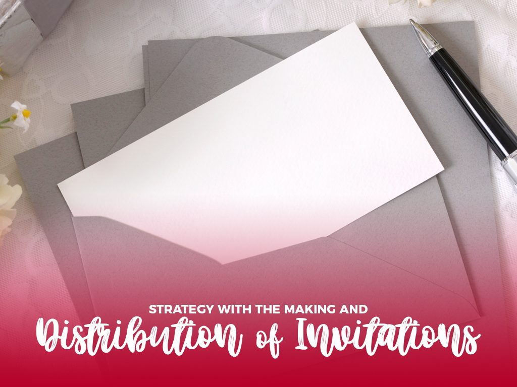 Strategy with the making and distribution of invitations