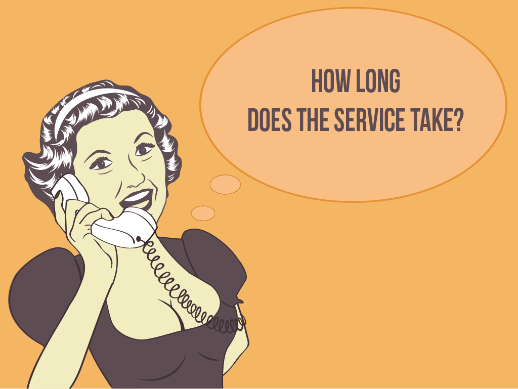 Question #4: How long does the service take?