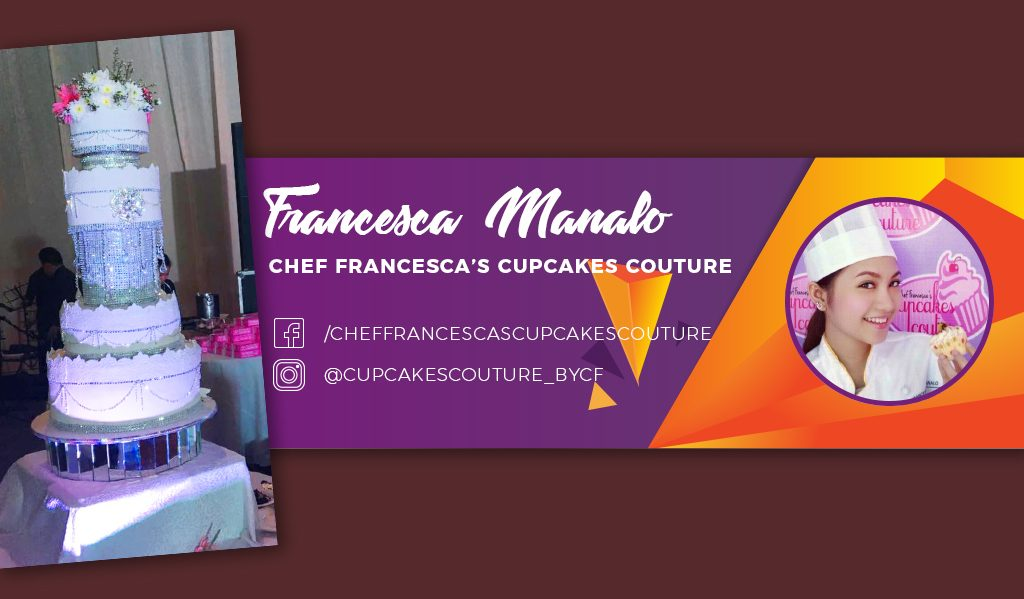 Francesca Manalo on Custom Cubic Zirconia Wedding Cake