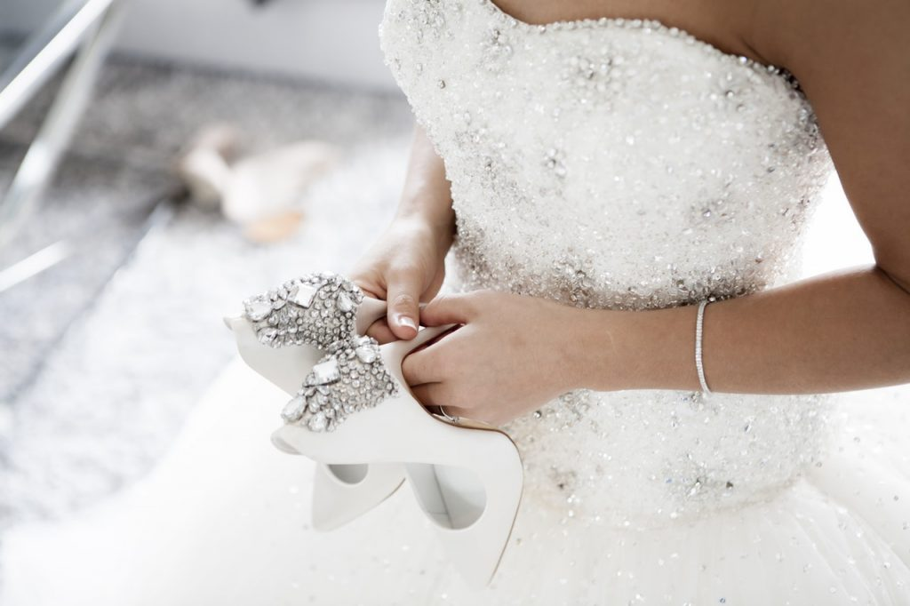 Snowy-White Wedding Gown