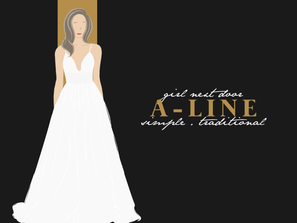 A-Line (Girl Next Door, Simple, Traditional)