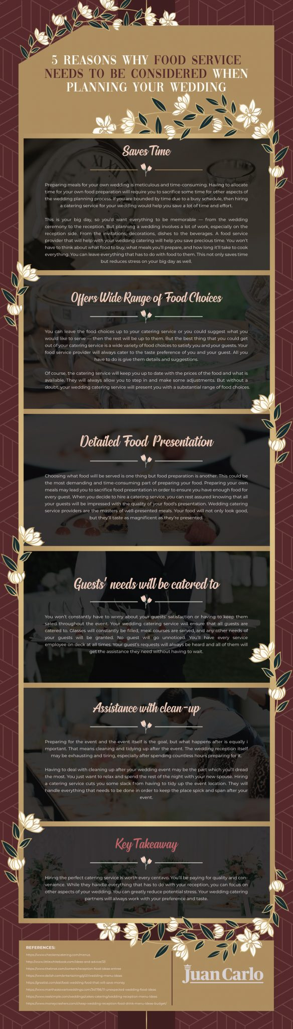5 Reasons Why Food Service Needs To Be Considered When Planning Your Wedding