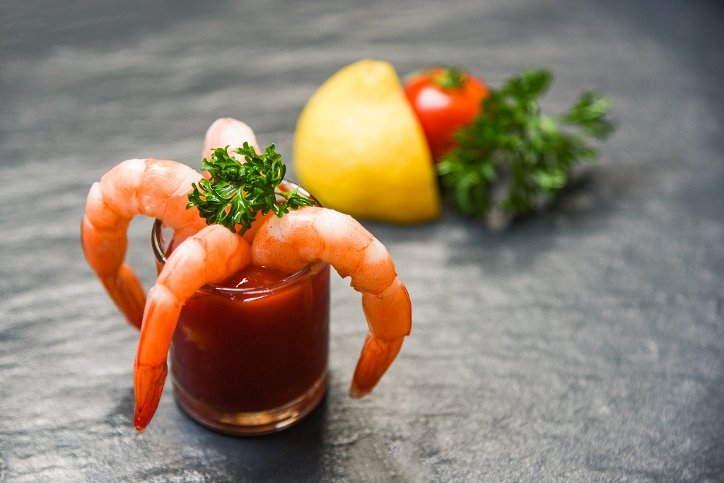 Shrimp cocktail prepared by a wedding caterer in Tagaytay