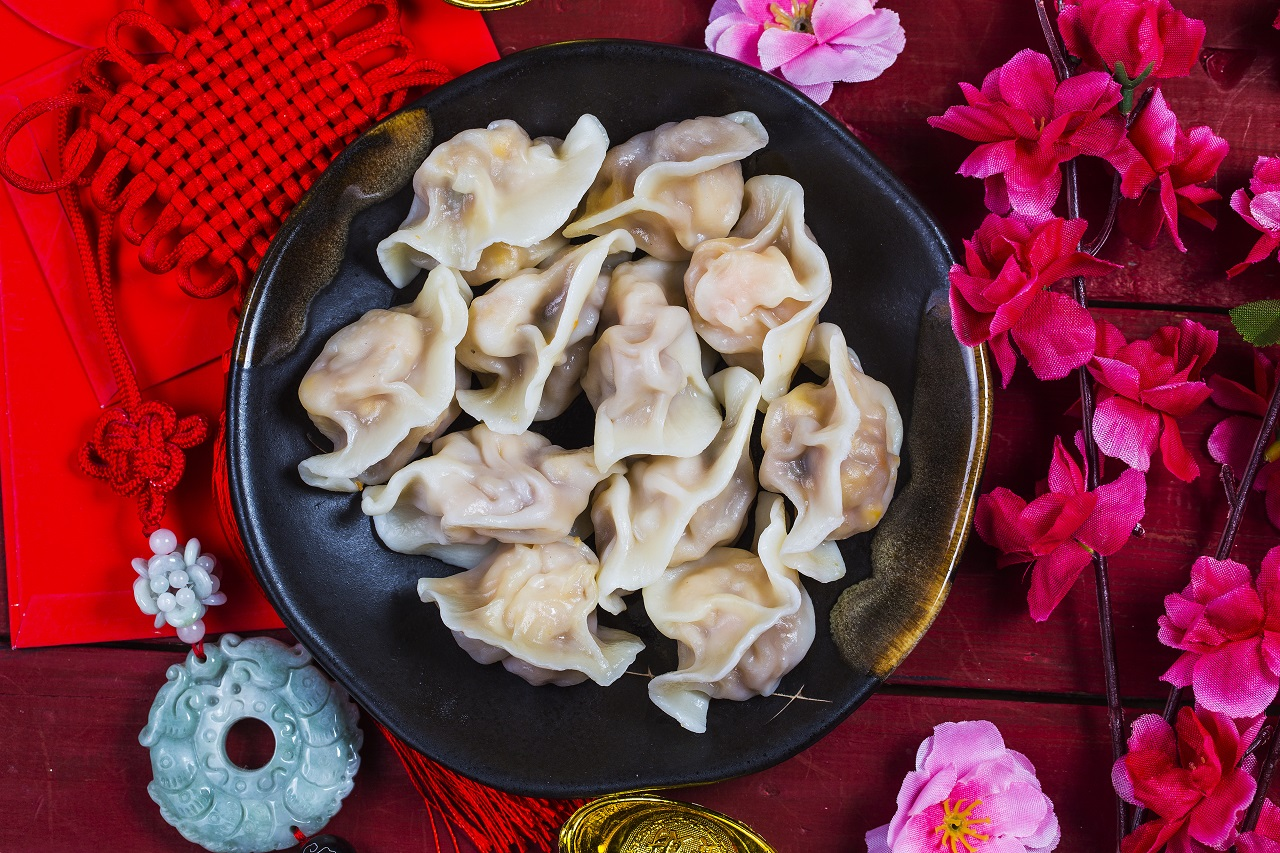 Dumplings made for the Chinese New Year