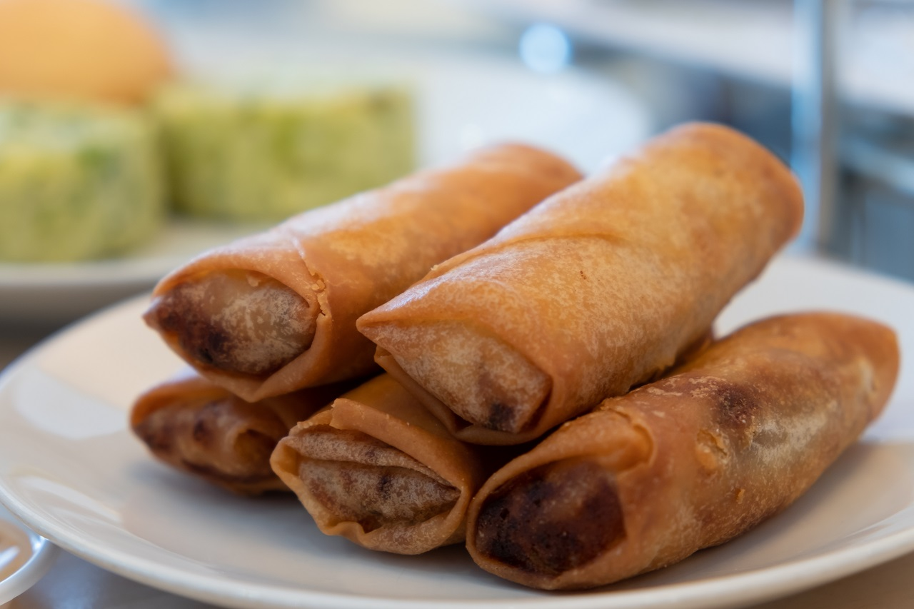 Lumpiang Shanghai on a plate