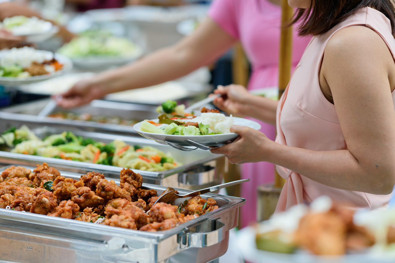 buffet at a children's party