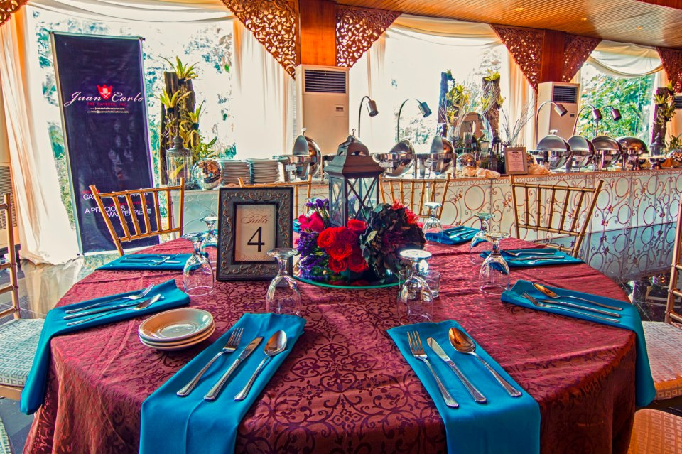 Tableware and set-up in a wedding destination venue in lipa