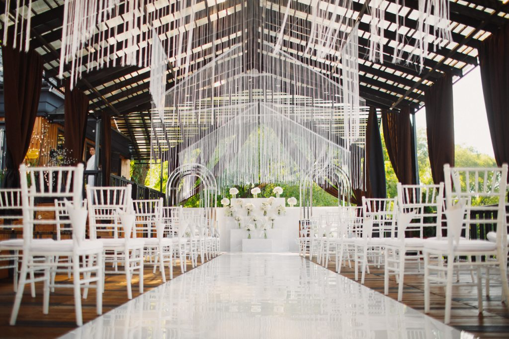 A decorated wedding venue in Lipa